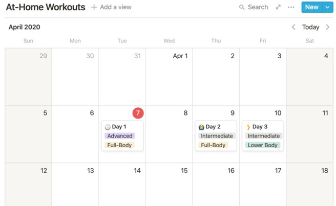 High Quality Calendar Template