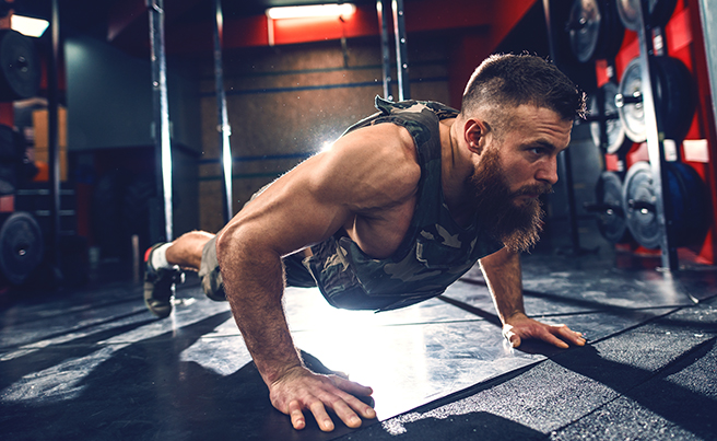 Weighted Vest Pushups
