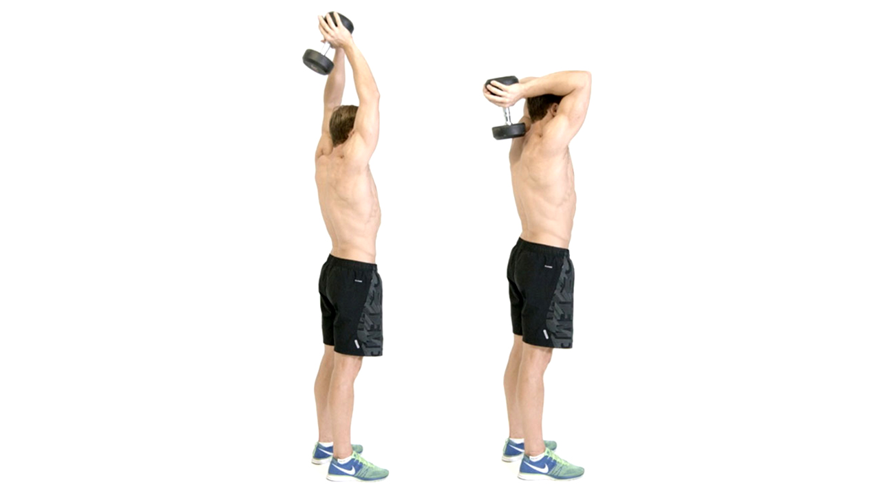 two arm dumbbell french press